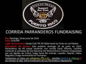 CORRIDA PARRANDEROS FUNDRAISING