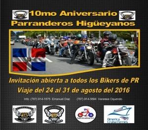 Promo 10mo Aniversario Parranderos Higueyanos 1