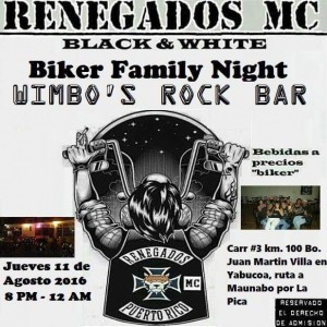 Renegados Jueves Biker Night