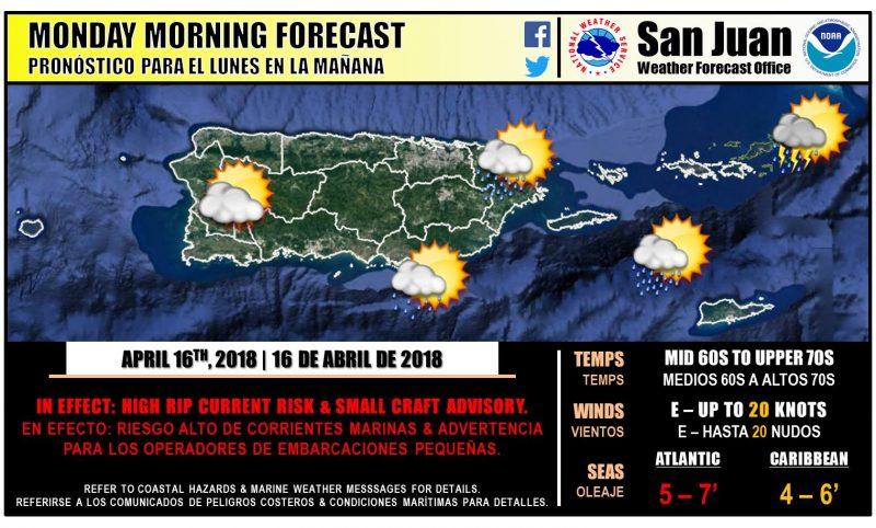 Servicio Nacional de Meteorologia San Juan PR 543 AM AST lunes 16 de abril de 2018