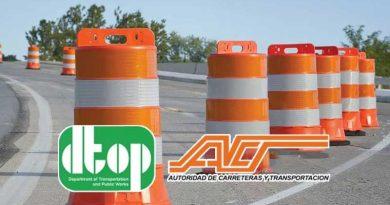 Trabajos de construcción, ACT, Carretera, Mantenimiento, DTOP
