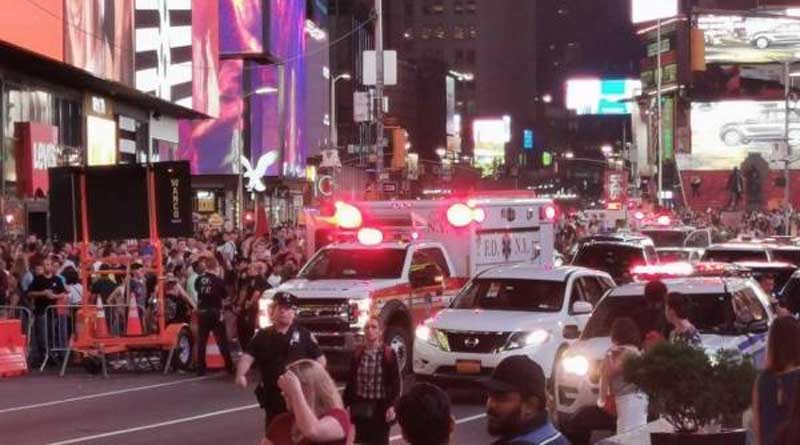 caos en Times Square
