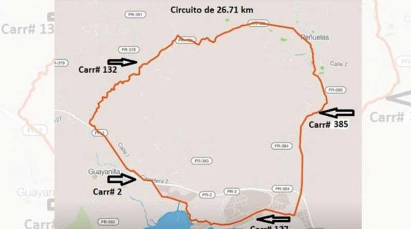 carreteras de Peñuelas y Guayanilla