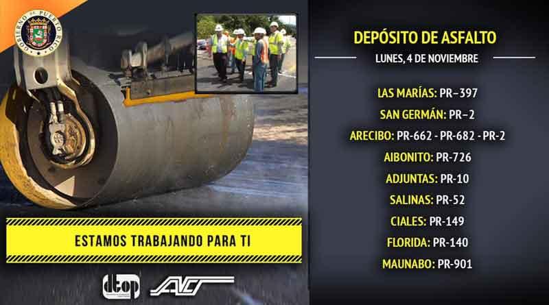 depósito de asfalto