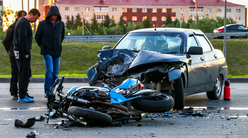 Car and Motorcycle Accident