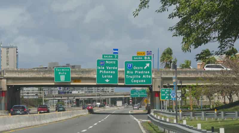 Carretera, Puente, Letrero