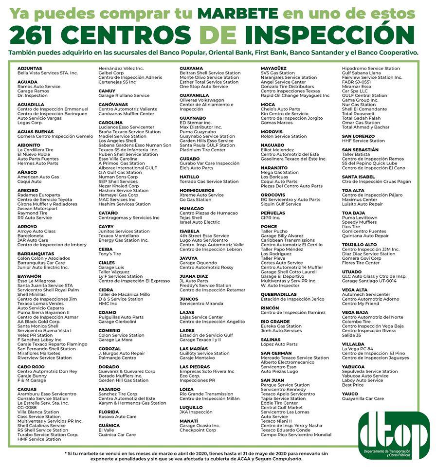 Centros de impección