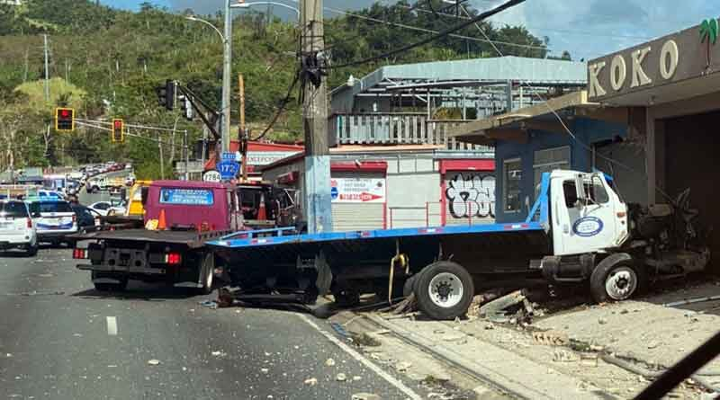 Accidente con camión