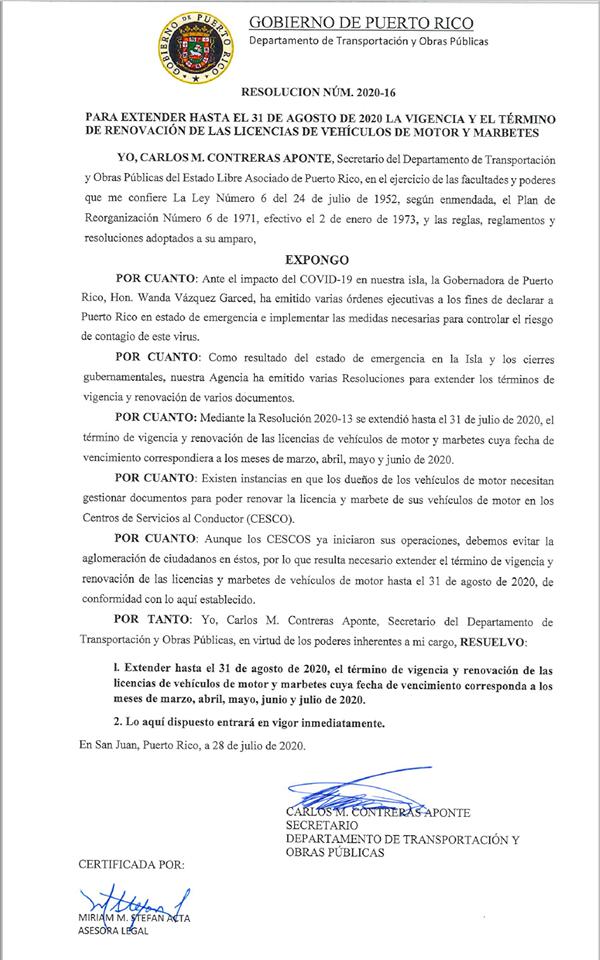 Resolución 2020-16