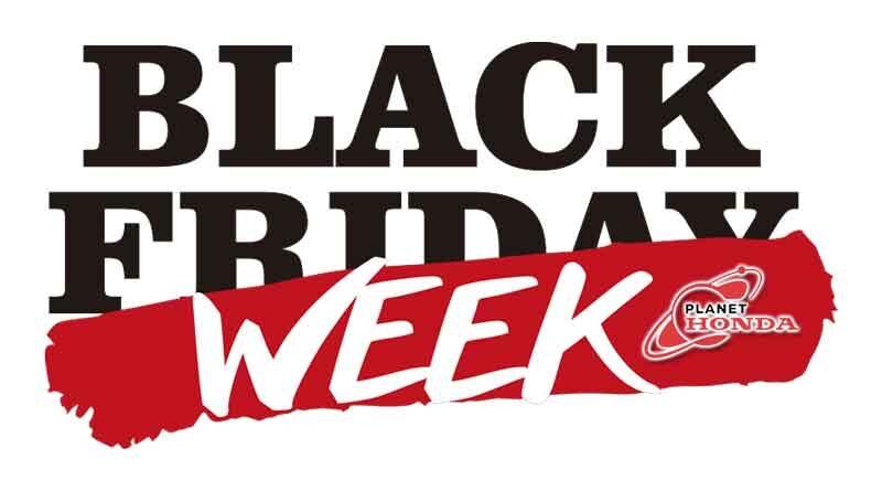 Black Week Sale de Planet Honda