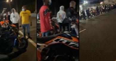 Video: Decenas de motoras en carreras clandestinas en Bayamón