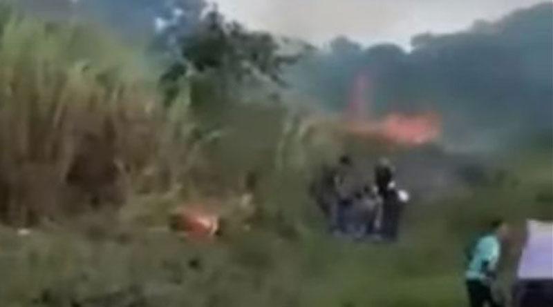 Motocicleta Incendiada