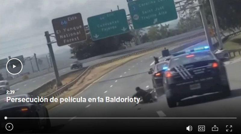Persecución Policía en la Baldorioty